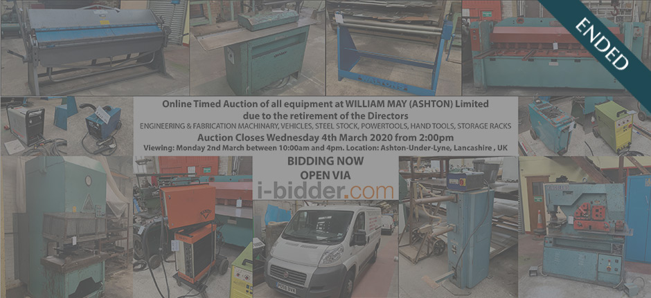 Online Timed Auction at William May (ASHTON) Limited (ended)