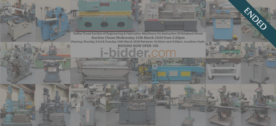 Online Timed Auction of Engineering & Fabrication Machinery On Instruction Of Retained Clients (ended)