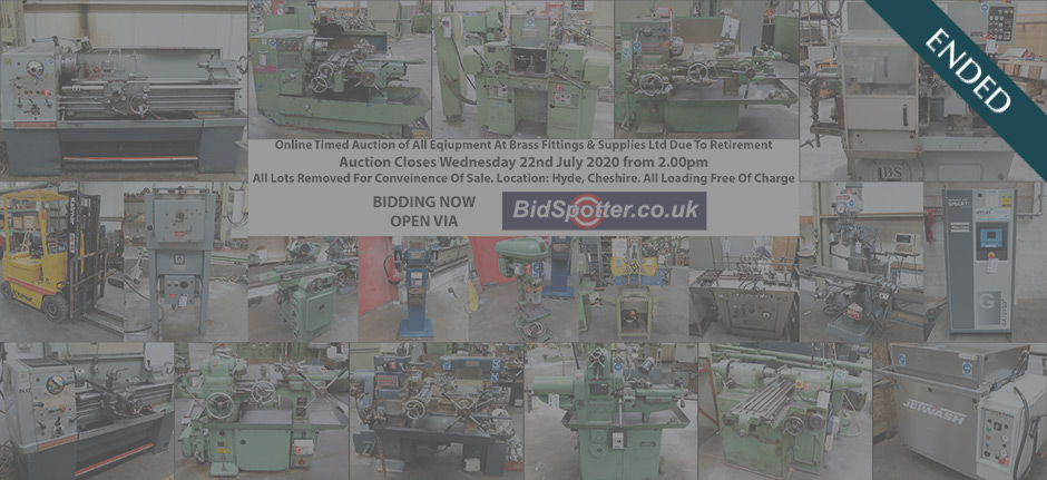 Online Timed Auction Of All Equipment At Brass Fittings & Supplies Ltd Due To Retirement (ended)