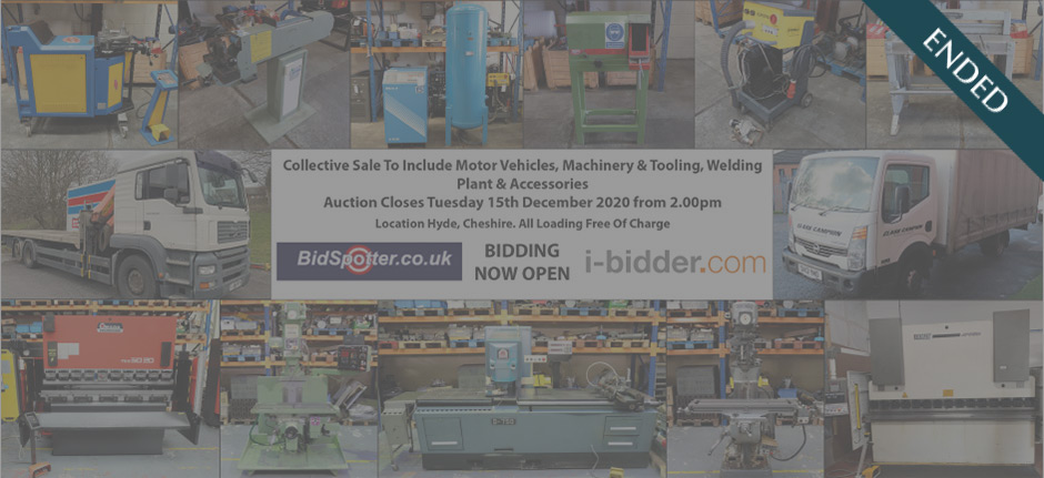 Collective Sale to Include Motor Vehicles, Machinery & Tooling, Welding Plant & Accessories