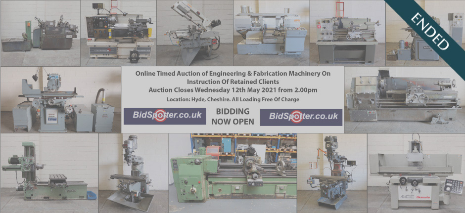 Online Timed Auction of Engineering & Fabrication Machinery On Instruction Of Retained Clients